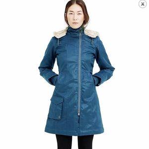 Hoodlamb Ladies Long Coat Hemp Vegan Faux Fur